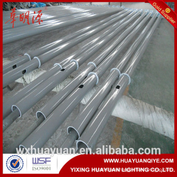 10m coated galvanized conical steel street light poles manufactures