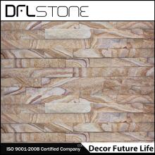 Panneau en pierre en pierre de fracture de couleur en bois