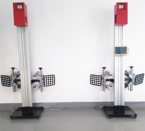 Portable two-post wheel alignment