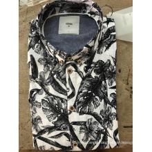 Men's fashion Mosaic large printed cotton shirt