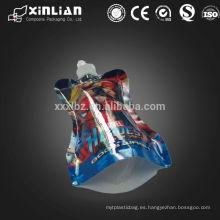 Embalaje flexible PET / NY / AL / PE bolsa doypack con boquilla para líquido