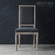 Famille décoration luxe tissu carré dos salon français chaise