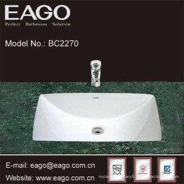 EAGO Céramique sous comptoir lavabo avec certificat CUPC