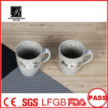 Caneca de café cerâmica do projeto da flor, caneca de leite cerâmica da venda quente, caneca cerâmica fábrica