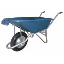 Caoutchouc roue brouette métal