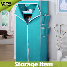 Ensamble el gabinete de almacenamiento de tela Plegable el armario útil del dormitorio