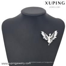 00034-xuping moda pedra broche de jóias, 925 cor de prata anjo forma broches