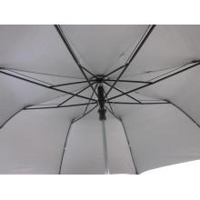 27 Inches Black 2-Folding EVA Handle Auto Open Umbrella (YS2F0009-3)