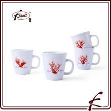 Круглый милый цветок печати керамической чашки с ручкой