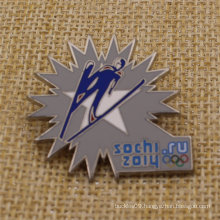 High Polished Hard Enamel Metal Sochi Lapel Pin for Sale