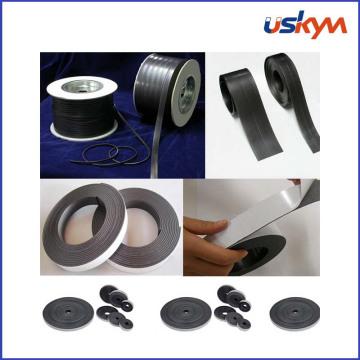 Rouleau magnétique flexible avec adhésif