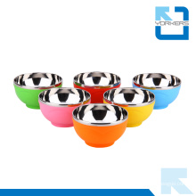 High Quality Tableware Stainless Steel Korean Colorful Bowl