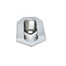 Squatting Toilet Wc Pan for Sale 304 Stainless Steel Customized 20-35 Days 1.0-1.2mm with Trapway 425*195*650mm