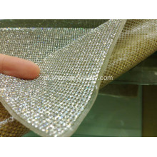 Hot Fix Folha de diamante adesivo, Crystal Diamond Mesh