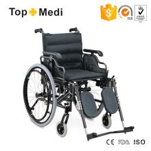 Cadeiras de rodas manuais de alumínio Topmedi com roda de liberação rápida