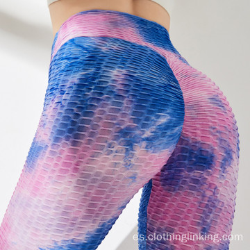 Mallas de yoga con leggings tie-dye