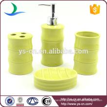 Luz verde casa de banho cerâmica acessórios decoração