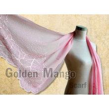 Shading de seda del bordado del color liso