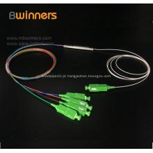 Divisor de fibra óptica de tubo de aço 1X4 Pon plc