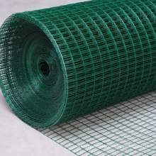 Good anti-corrosion 1x1 light green pvc coated welded wire mesh roll