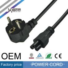 SIPU haute qualité européenne 2 broches en gros eu plug cordon pour ordinateur portable meilleur ordinateur puissance eletric câble prix