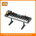LOZ elektronischer Orgel Baustein Ziegel Spielzeug, Intelligentes Baustein Spielzeug