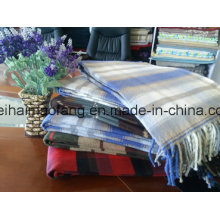 Woven Plaid Pure Cotton Fringed Picnic Throw