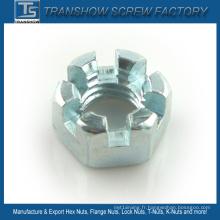 DIN935 DIN937 Écrous hexagonaux fendus