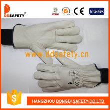 Cheap Cow Grain Leather Driver Work Glove