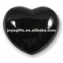 Corações de pedra pretos da obsidiana de 40