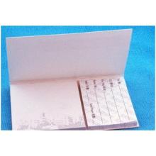 Notes autocollantes imprimées avec couverture rigide blanche, pour mémo de famille