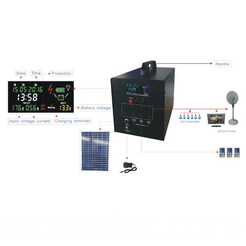 solar power off grid system complete