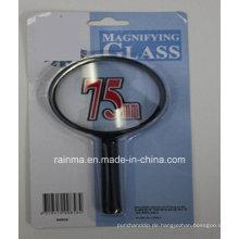 75mm Günstige Lupe mit Kunststoffgriff Lupe