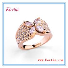 Bague de fiançailles en diamant blanc diamant en or 18 carats