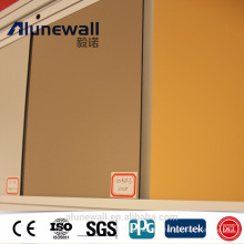 Alunewall marque de haute qualité produit de la machine avec la meilleure liste de prix 4mm Nano PVDF panneau composite en aluminium