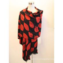 Senhora fashion viscose tecido jacquard franjas xaile (yky4408)