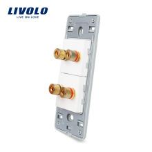 Livolo Стандарт США, 2 банды, дом, настенный звук / акустика, цоколь VL-C5-2A-8-11