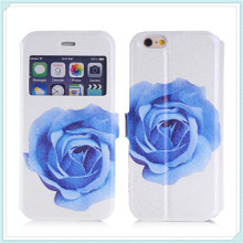S View Style Super Slim Leather Fold Case for iPhone6s Flowers Case