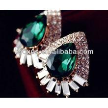 2014 acessórios de moda brincos esmeralda
