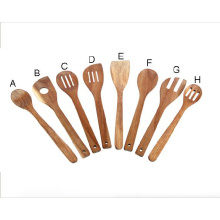 Acacia wood utensil sets with hanging hook