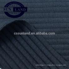 Tissu tricoté à rayures horizontales 100% polyester, jacquard, nouvelle couche de maille 19SS