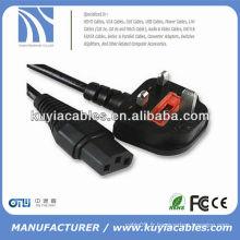 1.8m Câble de courant alternatif Standard 3-Prong pour ordinateur
