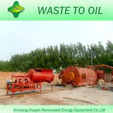 Neumáticos de desecho en la máquina de pirólisis de petróleo crudo