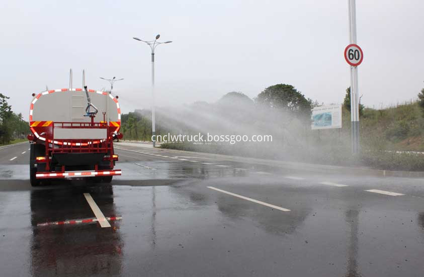 water tank truck in action 4