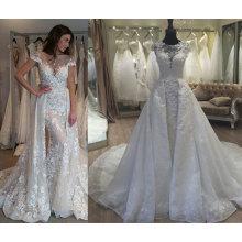 Tendy A Line/Mermaid Detachable Train 2 in 1 Wedding Dress