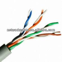 Cable vendedor caliente 5e del UTP para la red, detalles rápidos 24gw AC cobre y aislamiento del PE
