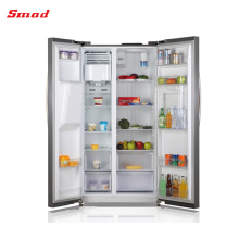 SMAD Side By Side Stainless Steel Refrigerator With Ice Maker