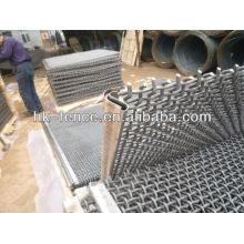 pantalla de mina con malla de alambre de gancho / prensado