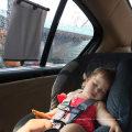 Солнцезащитный козырек на окно автомобиля - Автомобильные жалюзи Выдвижной солнцезащитный козырек - Тент для заднего и бокового окна автомобиля Универсальный 2 пакета Авто солнцезащитный козырек защищает от ультрафиолета