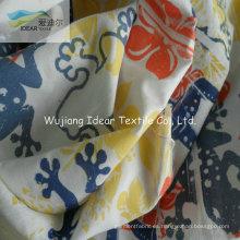 75DX150D impresa cepillado microfibra poliester tela de piel de melocotón para textiles para el hogar